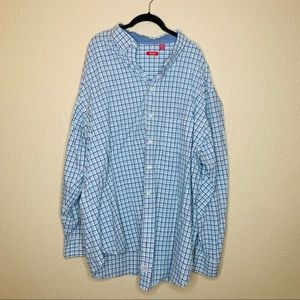 Izod Men's Blue Plaid Button Down | sz 3XLT
